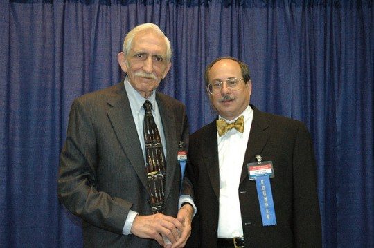 The Second Amendment Foundation's president, Joe Tartaro, with its founder, Alan Gottlieb. Licensed under a CC-By-ShareAlike license.