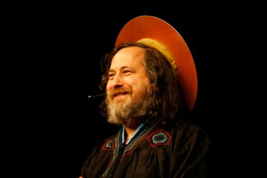 St. IGNUcius, aka Richard Stallman. Photo by Anders Brenna.