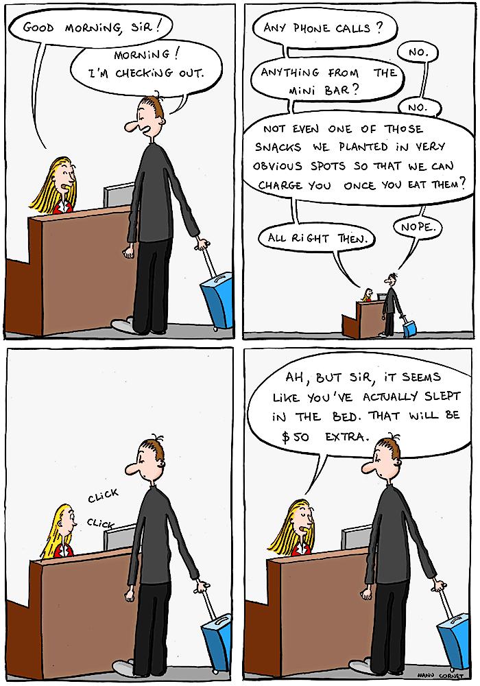 hotel checkout