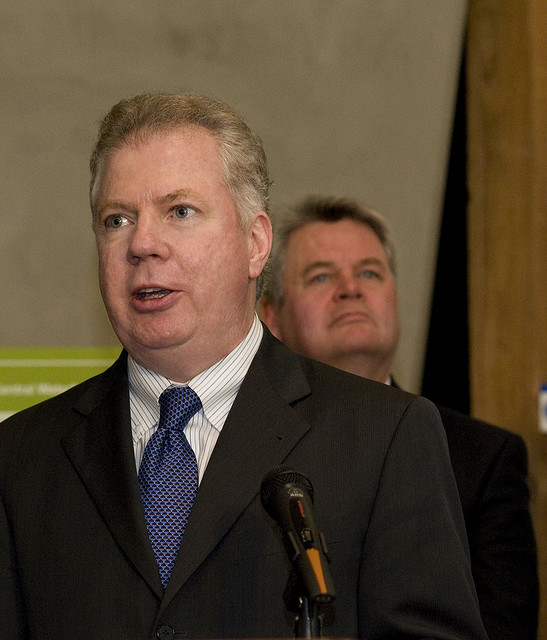 Sen. Ed Murray at the SR99 Bored Tunnel Bill Signing. Photo Credit: WSDOT, licensed CC-By-NC-ND