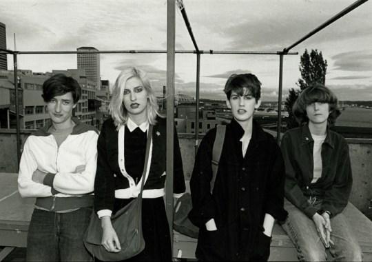 The Neo Boys: Pat, KT, Kim & Meg.Photo courtesy of K Records.