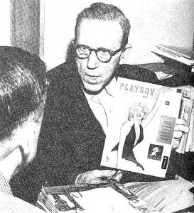 Dr. Wertham with the first Playboy, arguing that it should not be censored.