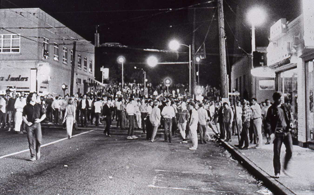 University Way Northeast and Northeast 43rd Street during the Ave riots Stan Stapp