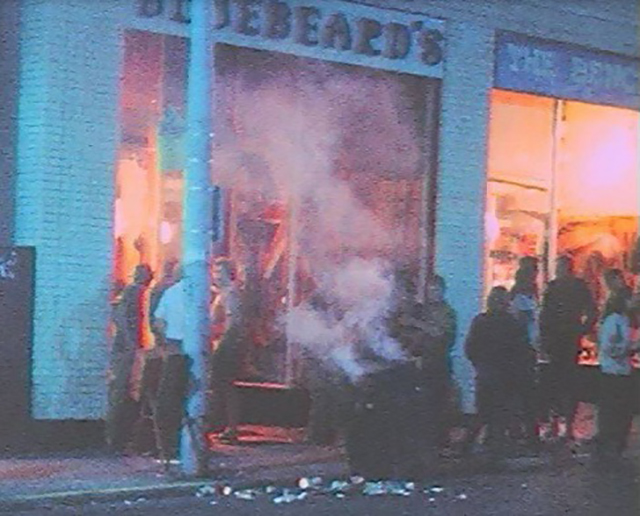 Outside Bluebeard's boutique, August 13, 1969 photographer unknown