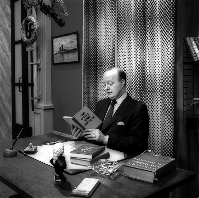 Andrew Allan in 1956. Photo courtesy of the CBC.
