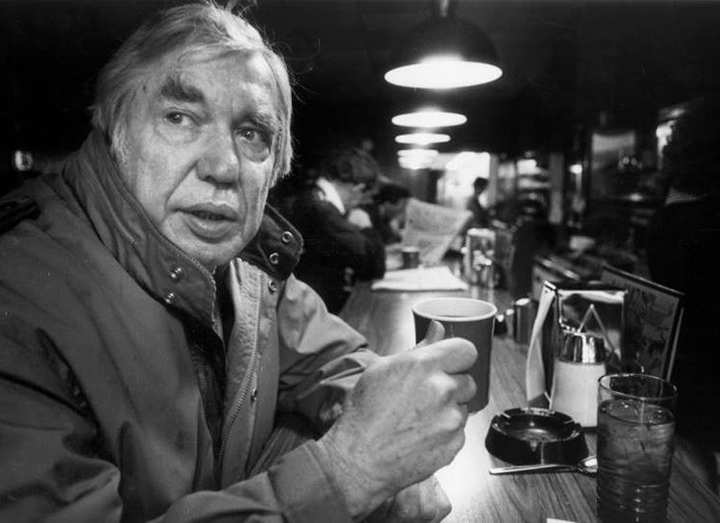 Emmett Watson (1918-2001), Mecca Cafe, circa 1982 Cary W. Tolman / Seattle Post-Intelligencer
