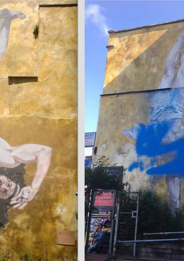 Who Smoked Bristol's Breakdancing Jesus?