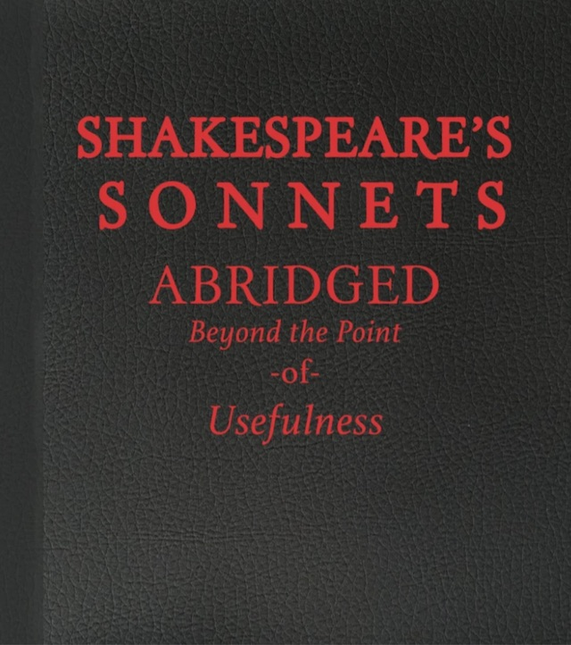 Free Thing of the Week: Shakespeare's Sonnets Abridged Beyond the Point of Usefulness