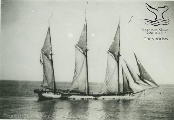The ship Hattie Wells is shown in 1912.