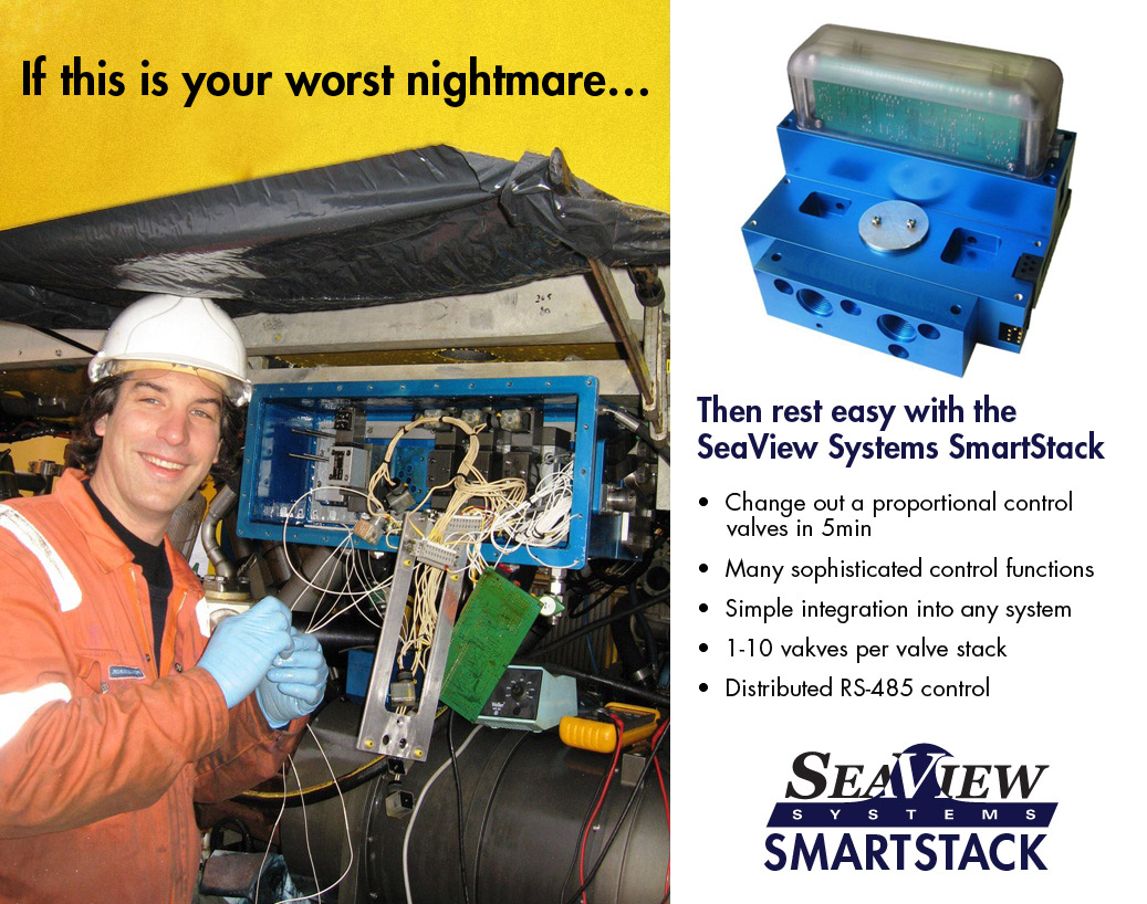 A SeaView Smart Stack valve pack advertisement is shown.