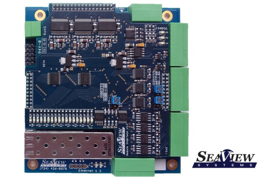 The SeaView Systems SVS-109 fiber optic multiplexer (mux) is shown.