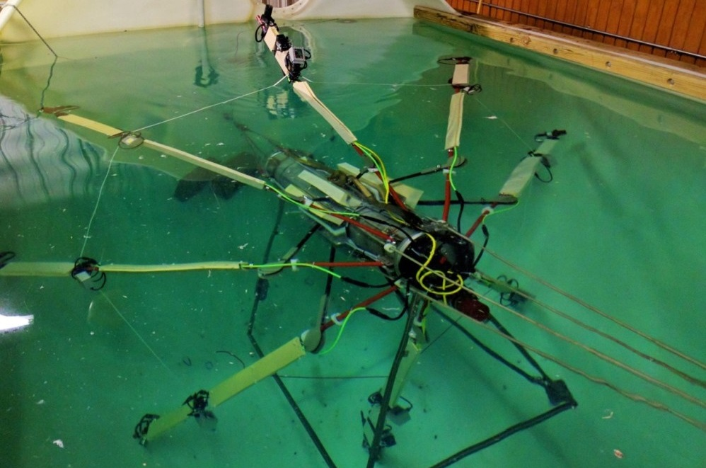 The SeaView Systems Titan underwater robotic remote operated vehicle (ROV) is shown being tested in our 10,000 gallon test tank.