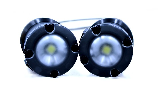SeaView Systems' Blue Robotics BlueROV2 underwater robotic remote operated vehicle (ROV) Lumen subsea lights are shown.