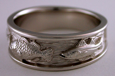 Triple Fish Wedding Bands