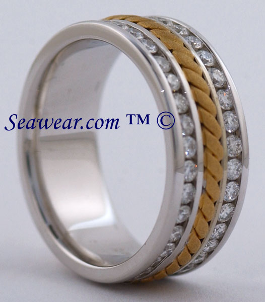 Discount Special Braided Wedding Band