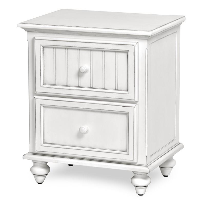 monaco 2 drawer nightstand blanc
