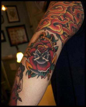 Rose Anchor Tattoo