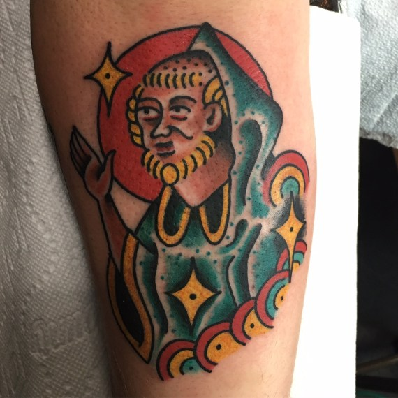 magic man!!!, andy hefner, andyhefnertattoo, minneapolis tattoo, minneapolis tattoo shops, traditional tattoo, traditional tattoos