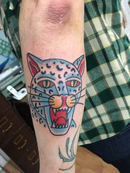 cat!!!!!, andyhefnertattoo, cat tattoo, minneapolis tattoo shops, sea wolf tattoo, traditional tattoo, traditional tattoos