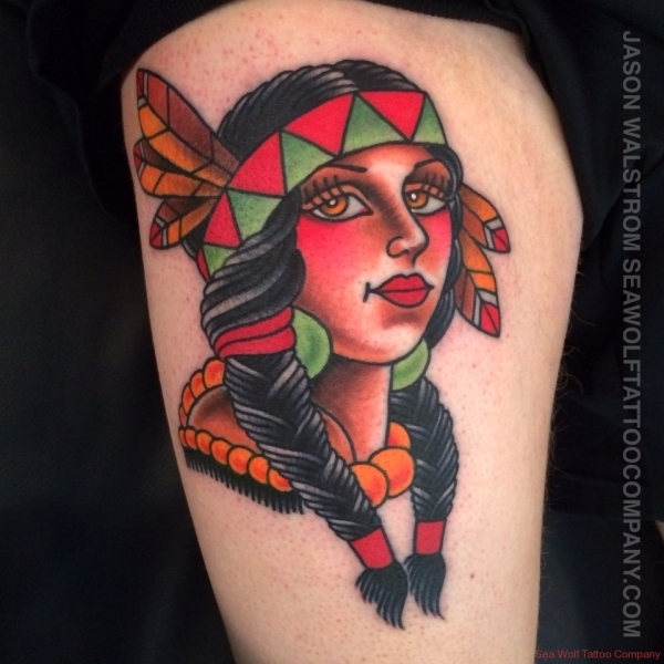 Native Girl Tattoo