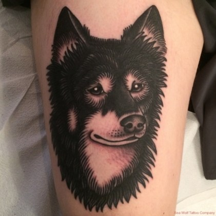 wolf-dog-tattoo