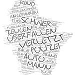 Marzahn-Hellersdorf - Wordcloud Polizeimeldungen