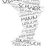 Tempelhof-Schöneberg - Wordcloud Polizeimeldungen