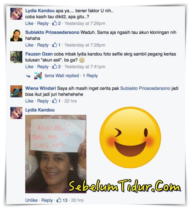Ini Foto Selfie Lydia Kandou Akun Asli Artis Indonesia Lydia Kandou