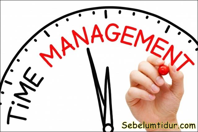 contoh manajemen waktu sehari hari