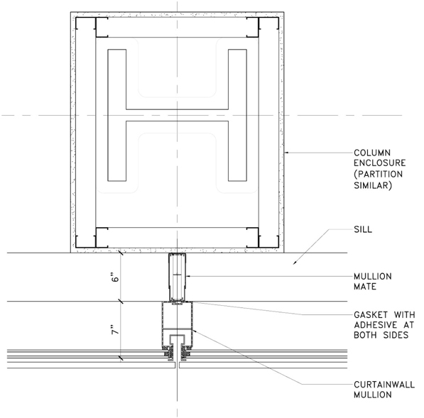 Partition Curtain Wall Mullion Detail