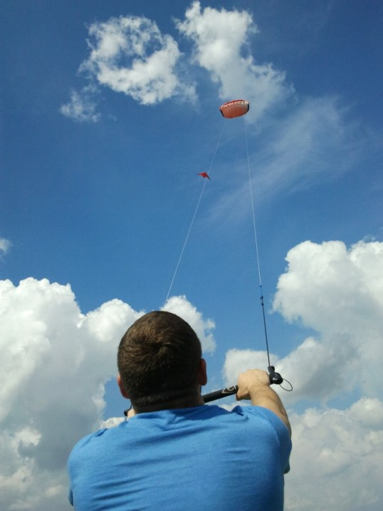 Cosmin kiting in the skies
