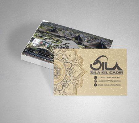 sıla kıl çadır kartvizit tasarımı