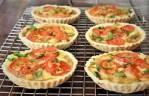Mushroom Roquefort and Tomato Tartes