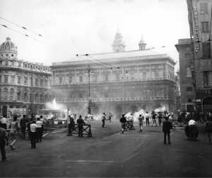 Scontri a Genova in occasione del congresso del Msi del 1960