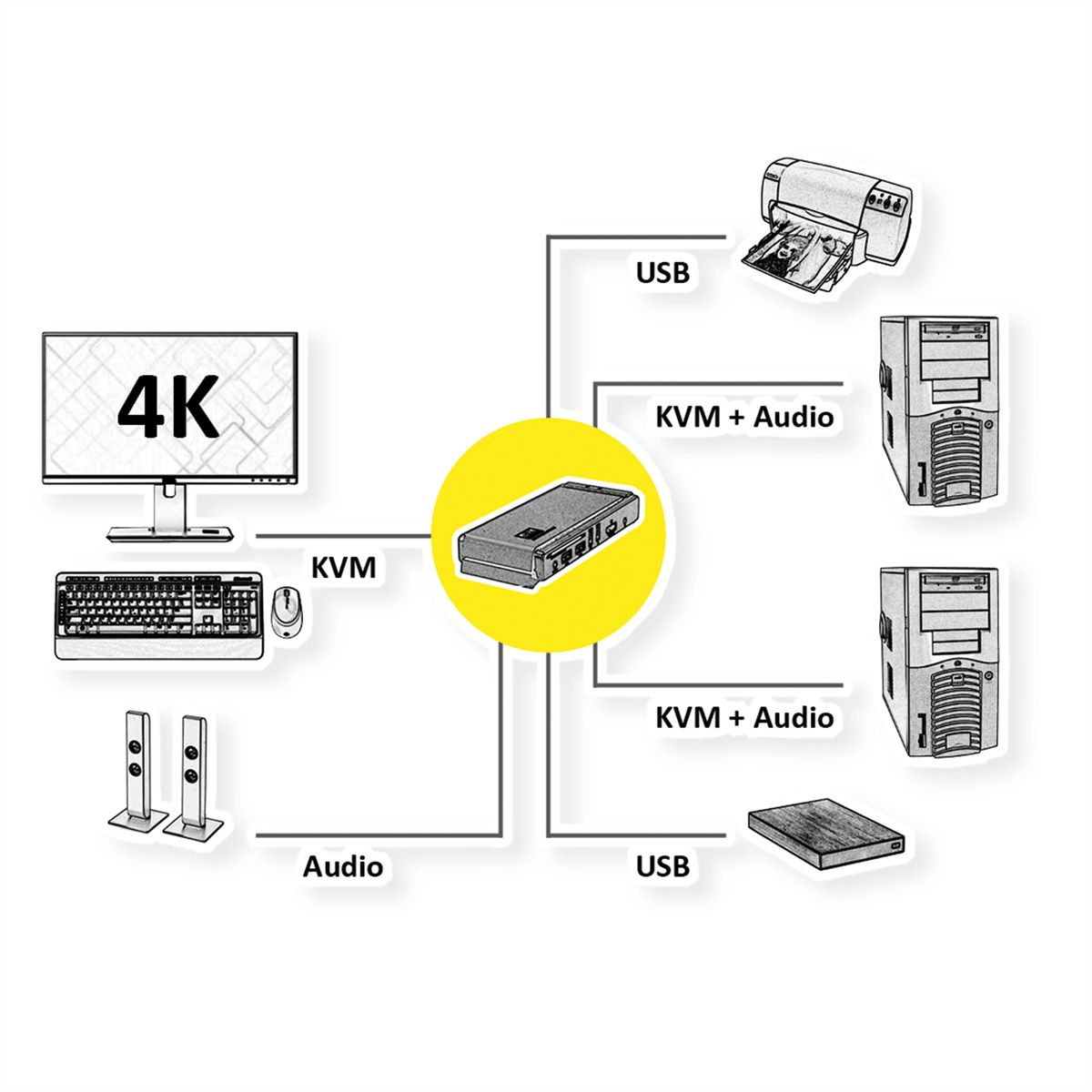 Roline Kvm Switch 1 User