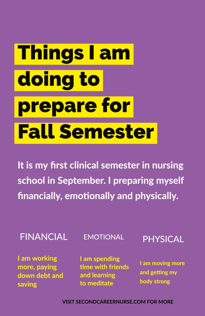 Things I am doing to prepare for Fall Semester