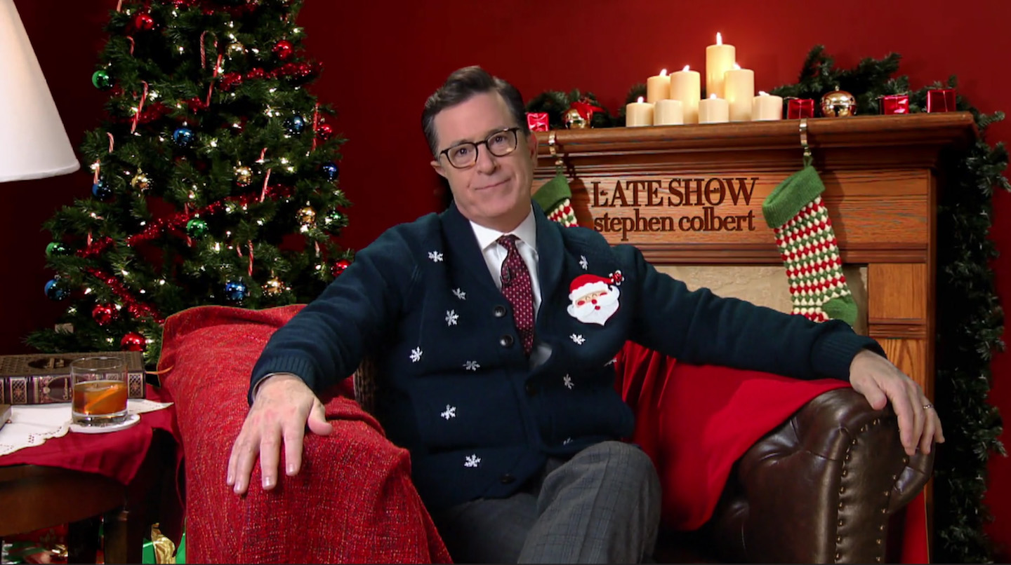 "Stephen Colbert Vows to Release ""900 Christmas Movies"" This Year"