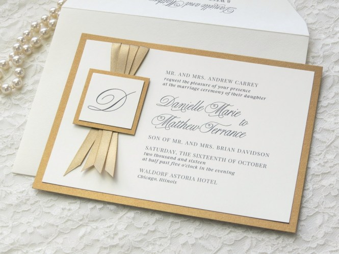 Gold Wedding Invitations Save The Dates Thank You Cards