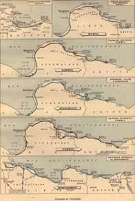 Carte de la campagne de Cyrénaïque