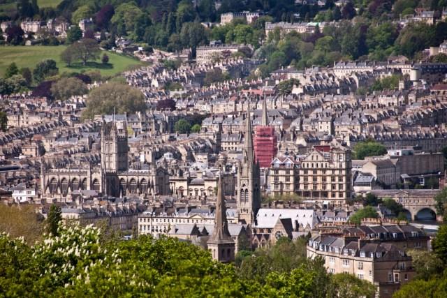 View of Bath from Prior Park Landscape Garden