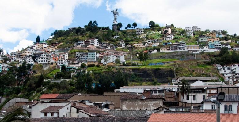 El Panecillo, Quito. Ecuador has many excellent Spanish schools.