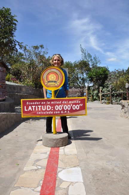 In both hemispheres at once! Mitad Del Mundo