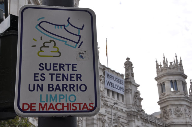Signs in Madrid