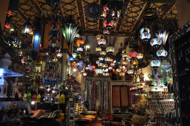 Typical Moroccan shop in the Albayzín Arab quarter of Granada