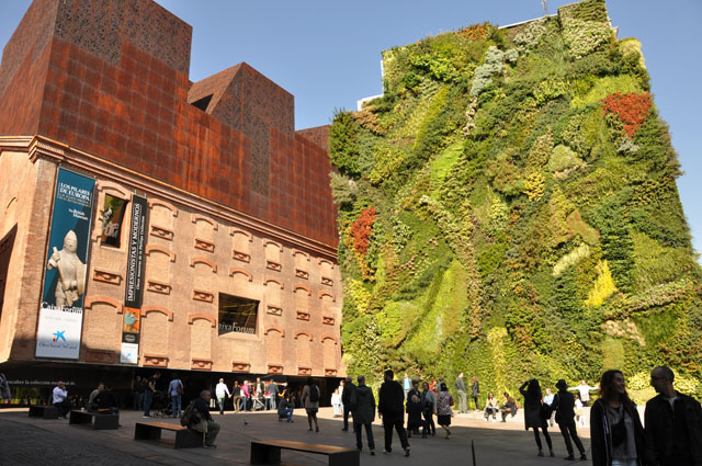 Living wall, CaixaForum museum and cultural center, Madrid