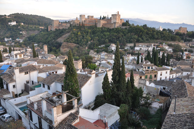 View onto the Alhambra from my Airbnb in Granada