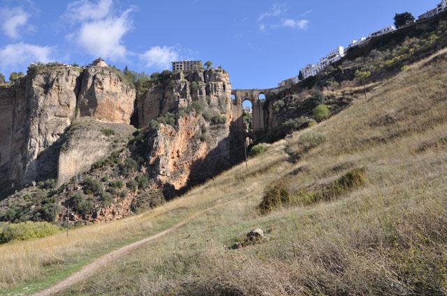 View onto Puente Nuevo from Camino de los Molinos hike, Ronda