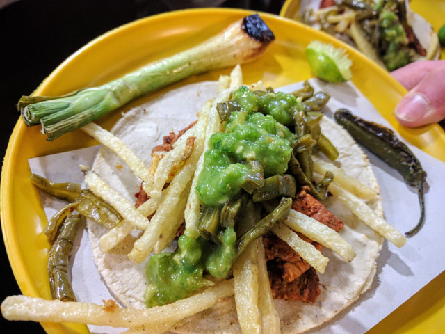 McTeo's taco with french fries