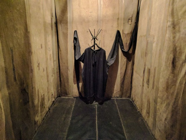 Padded torture cell with straitjacket, KGB Museum (Museum of Genocide Victims), Vilnius