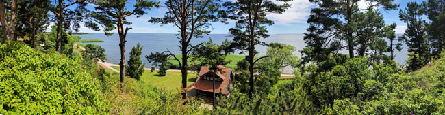 Famous view from German novelist Thomas Mann's summer house, Nida